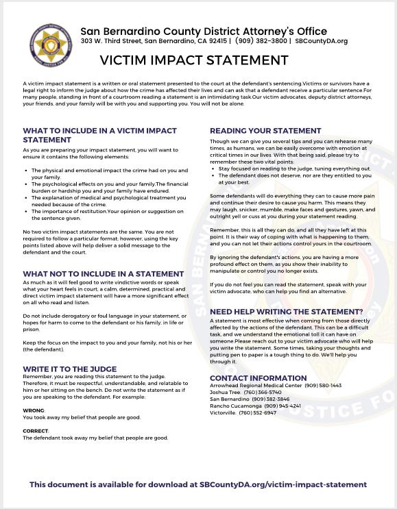 victim impact statement icon