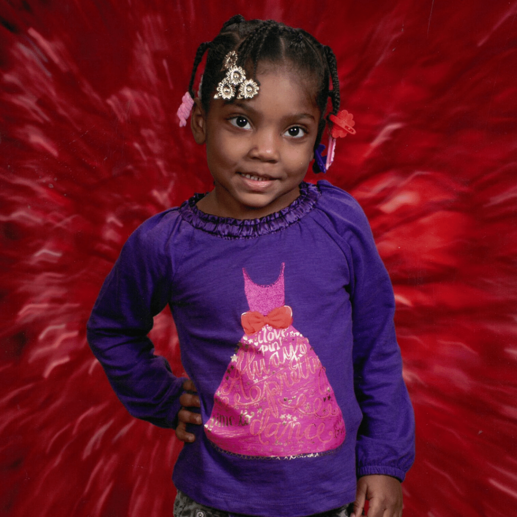 Samiah Downing poses for her 2012-2013 school photo