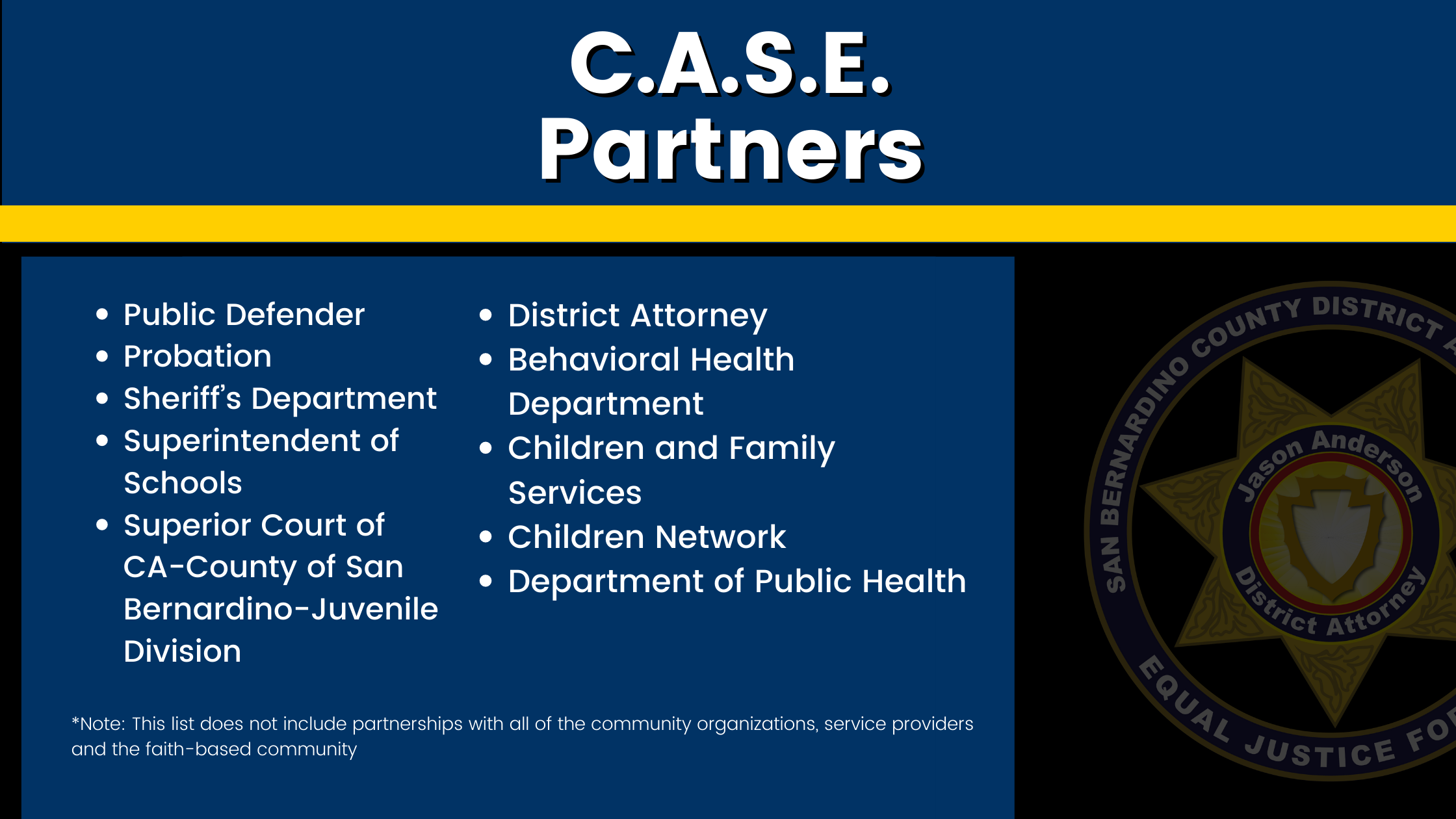 Graphic of CASE partners