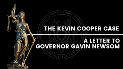 Graphic of Lady Justice statue for Kevin Cooper articles