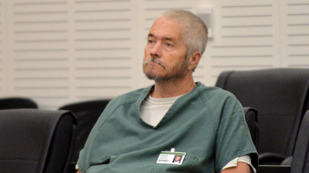 Larry James Allred seated in court in 2016.