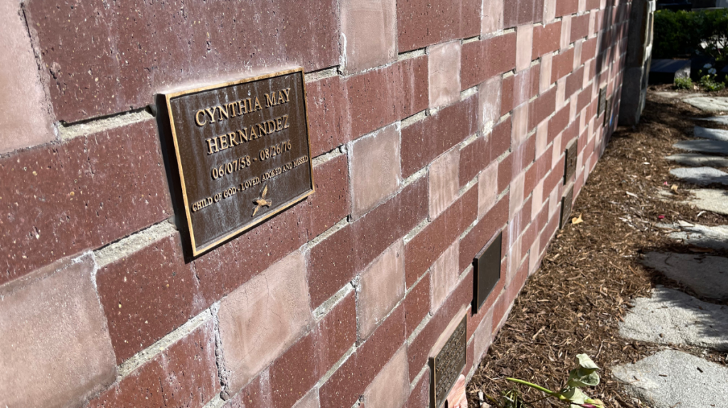 Cynthia Hernandez cemetary plaque